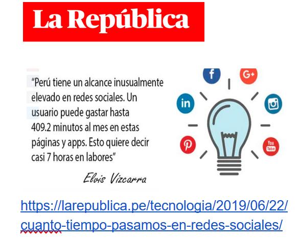 Artículo de prensa. sobre redes sociales.