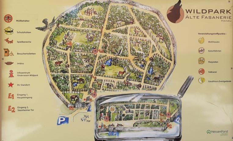Mapa del zoo en Wild Park